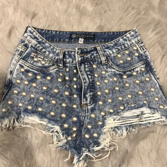 47c3737d3d Boom Boom Jeans Shorts   Studded High Rise   Poshmark